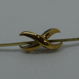 Sterling Silver Necklace with Platted Gold